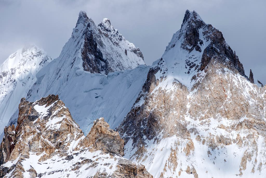 Gasherbrum VII, Front Tower and Twins peaks