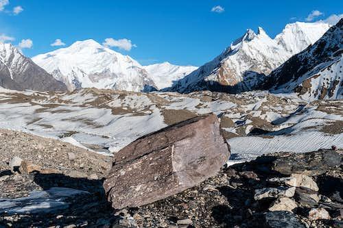 Baltoro glacier before snowfall