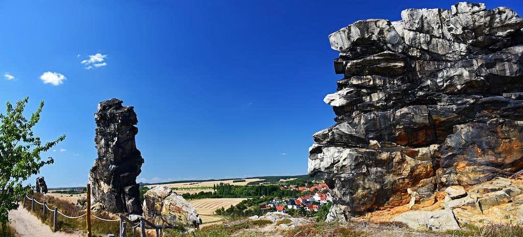 Teufelsmauer rocks near the Weddersleben