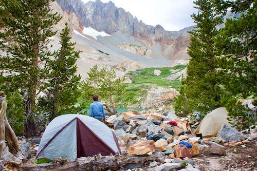 Camping at Red Lake Split Mountain