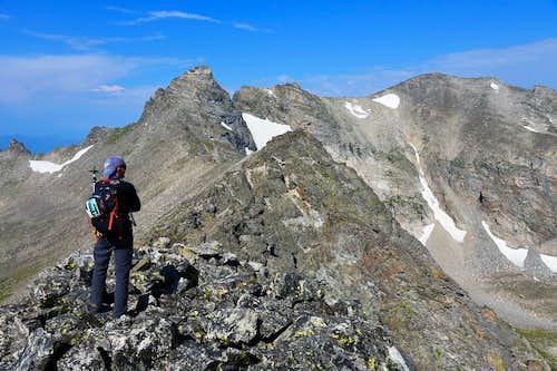 Bryan is scaling Navajo from Niwot Ridge.