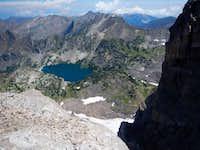 Pine Creek Lake From Top of Y Couloir