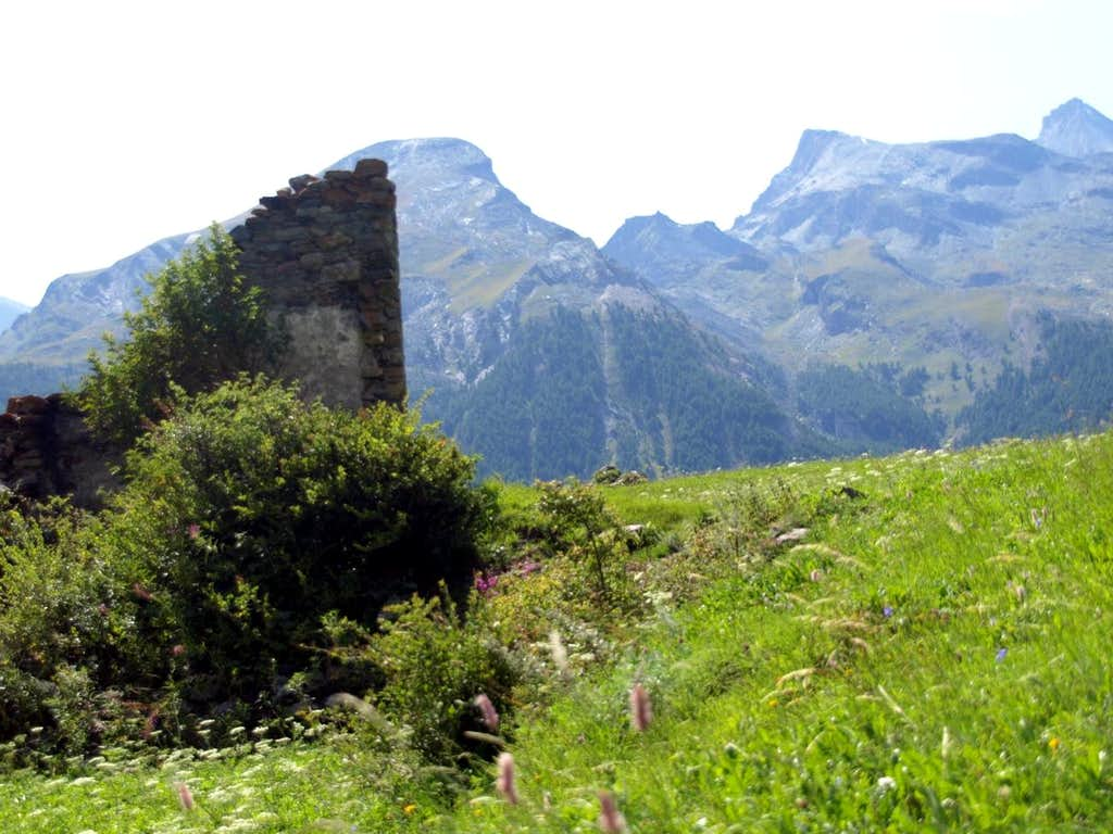 Grivola's Group from Tarabouc ruins