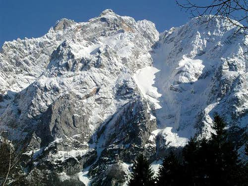 The north face of Kocna from...