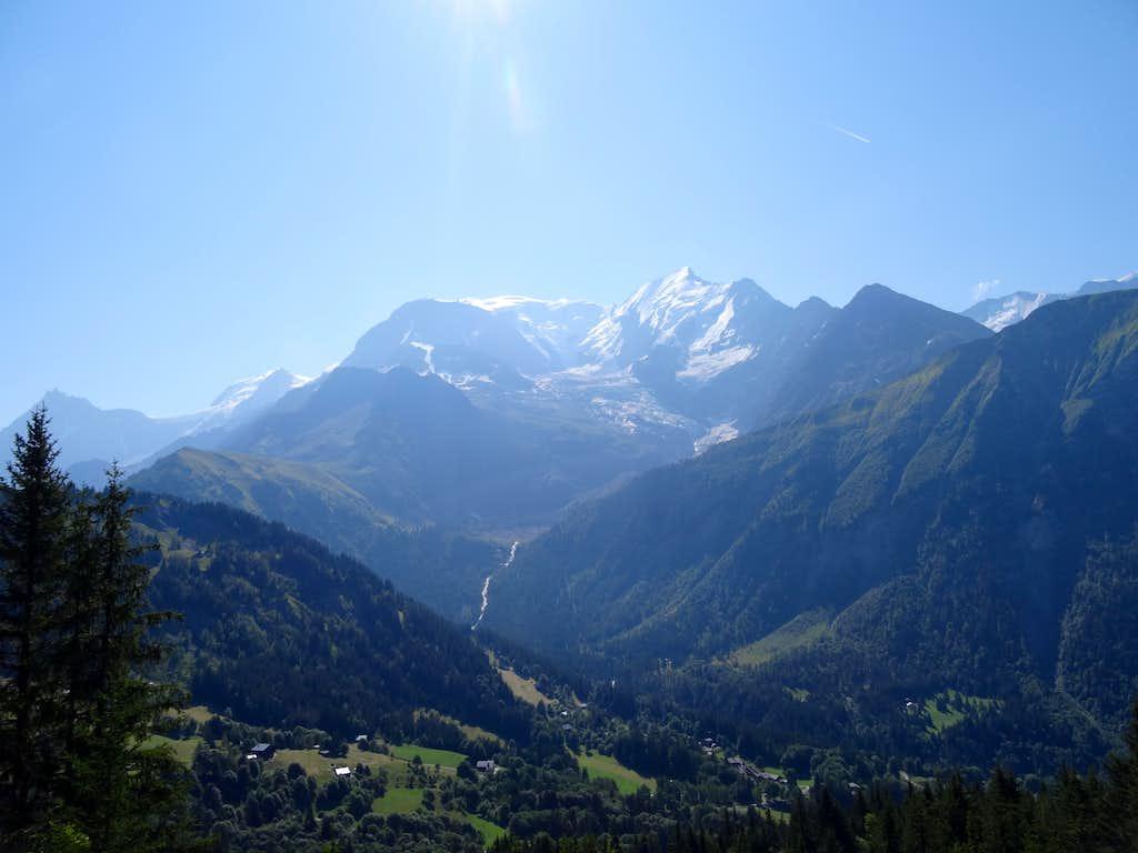 Mont Blanc from Col de la Voza