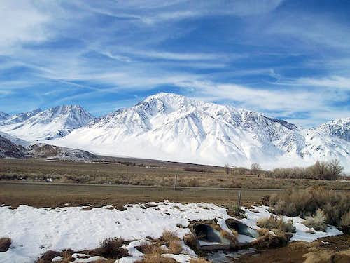 Mt Tom just west of Bishop,...