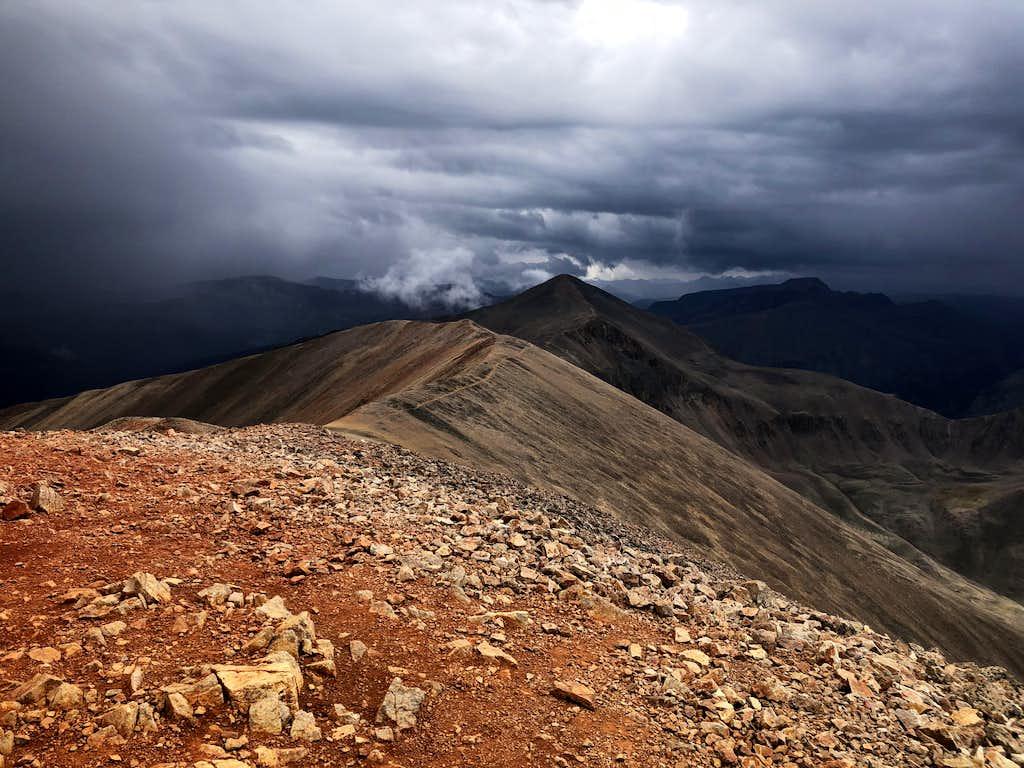 Weather on the ridge-line