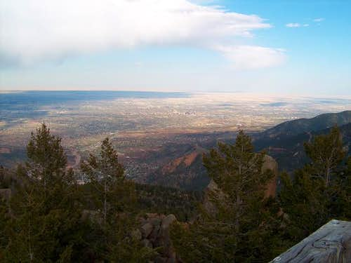 Colorado Springs from the top...