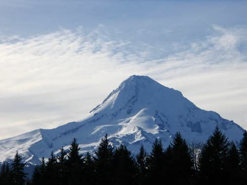 eastern side of mt hood with...