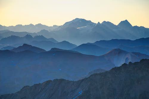 Early morning view to the Ortler
