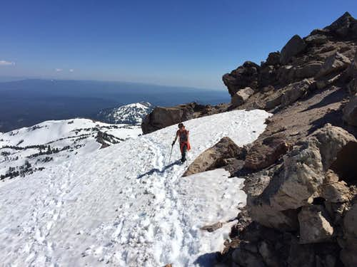 July 2, 2017 snow climb of Lassen Pk. from Bumpass Hell