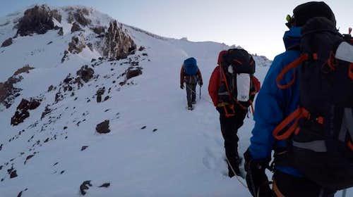 A Cold Ascent Up Casaval Ridge Mt Shasta
