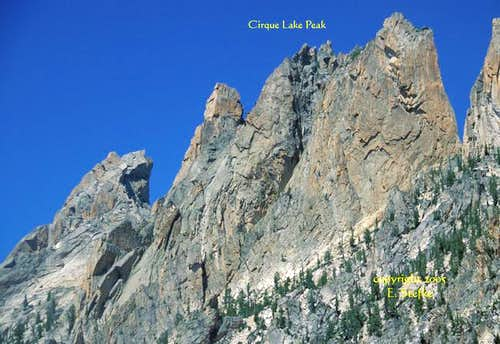 Warbonnet and Cirque Lake Peak