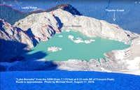 Photo -- Lake Borealis, bivi site, and start of route; from 7,170 ft, 0.21  mi NE of Primus