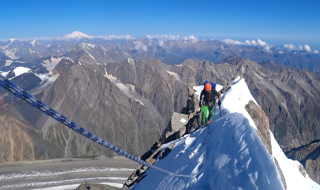 On the Summit Crest of Dykh Tau