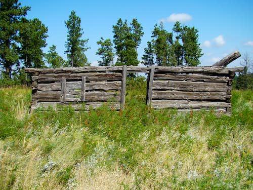 Abandoned Old Homestead Cabin near Pine Ridge Trail