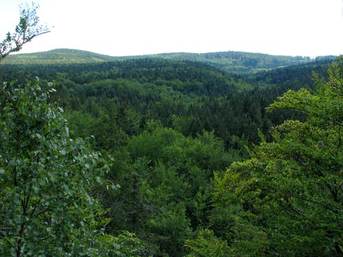 Borůvková hora from Šafářova skála