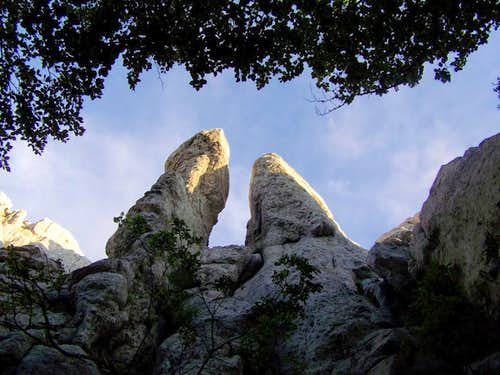 Two spires on Vucjak