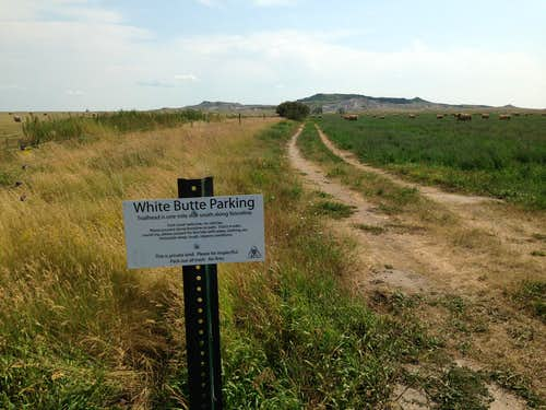 White Butte Trailhead. Park here