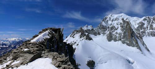 Monte Bianco Group from Aiguille de Toula