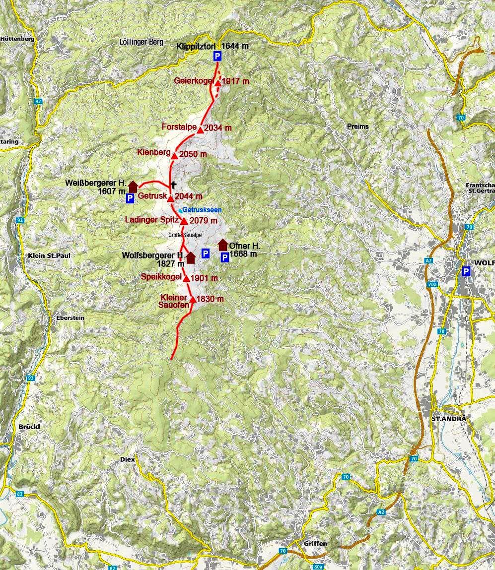 Saualpe map
