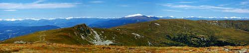 Ladinger Spitz northern panorama