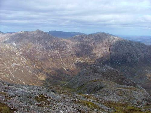 Ridgeline of Derryclare on...
