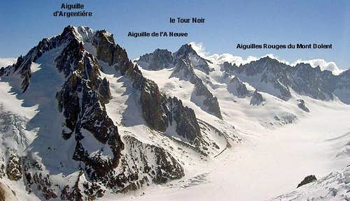 The Ridge from Aiguille...