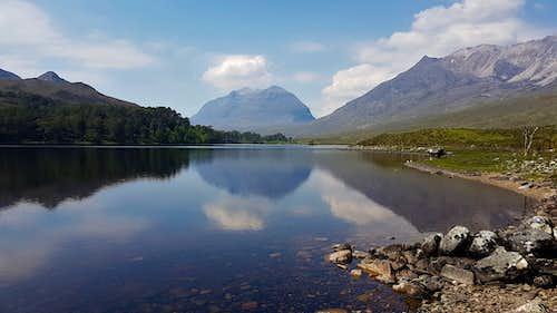 Liathach over Loch Clair