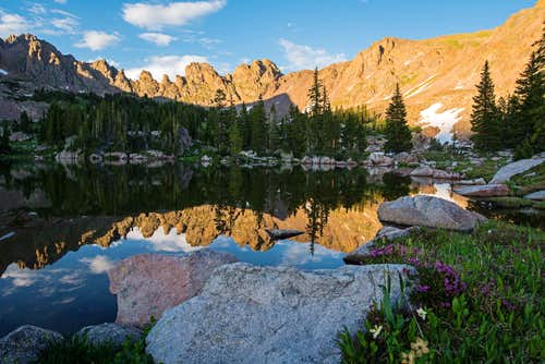 Peaceful Evening Reflection of Zodiac Ridge