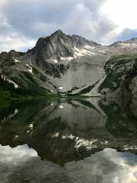 View of Hagerman Peak from Snowmass Lake