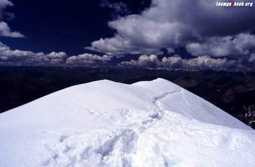 Snowtrack - on the summit...