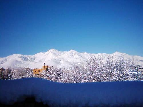 View of Alvand mountain from...