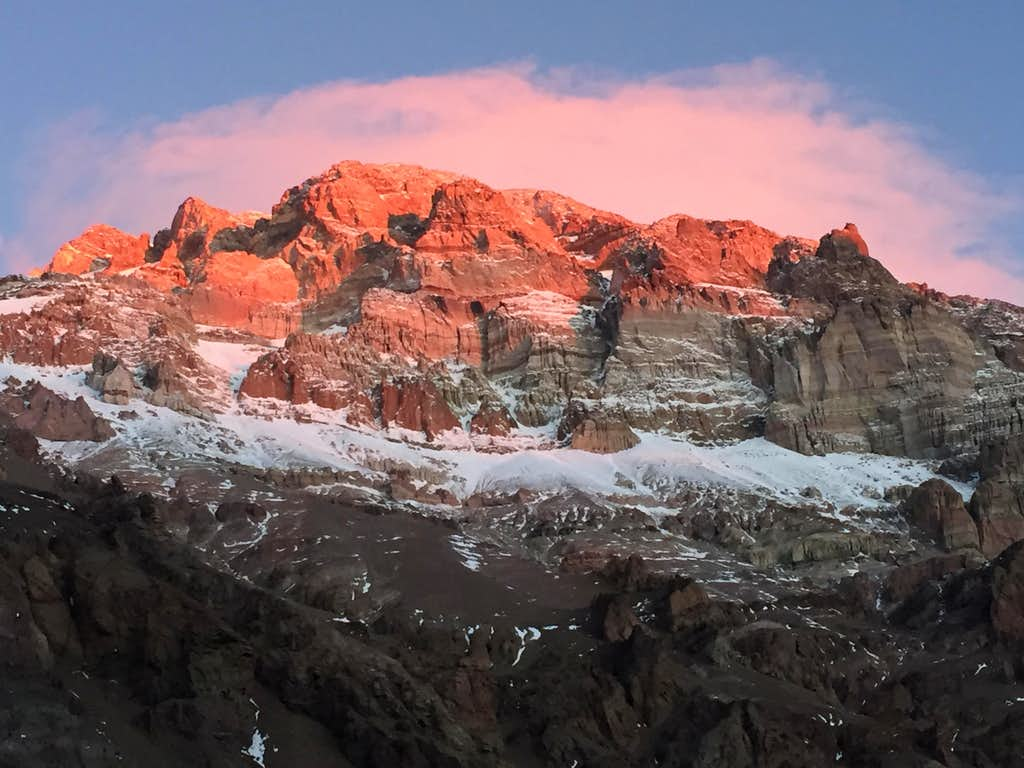 Sunset on Aconcagua