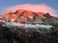Sunset on Aconcagua