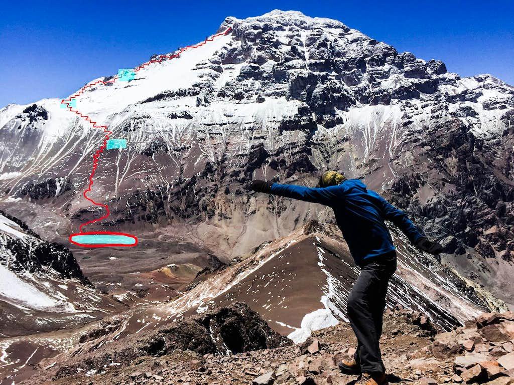 Cerro Bonete - En route to Aconcagua