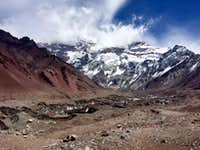 Lookout Plaza Francia, Southern Face Aconcagua