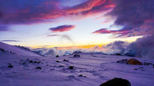 Sunset, Nido de Condores, Aconcagua