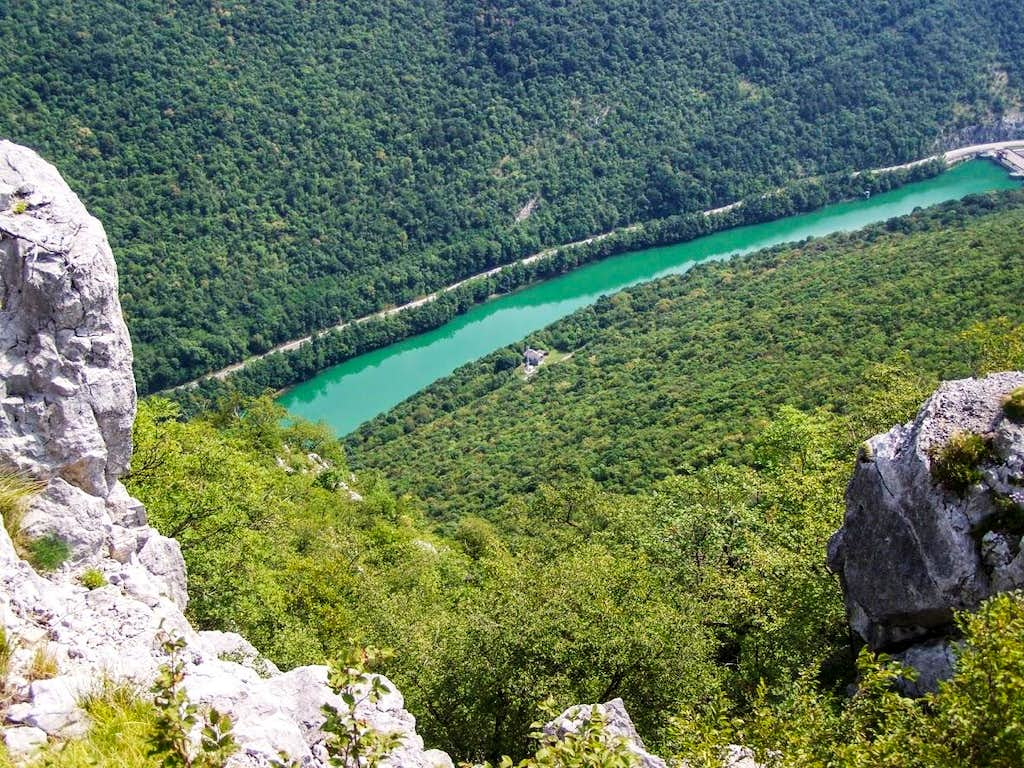 View of the Isonzo from Monte Sabotino