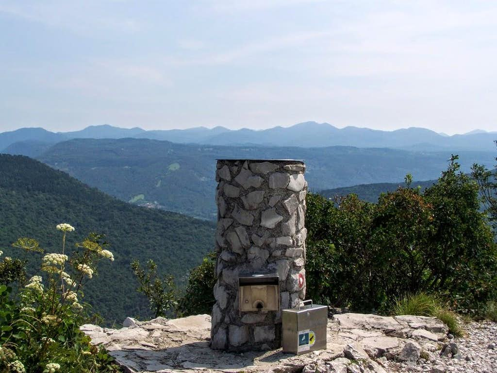 The summit of Monte Sabotino