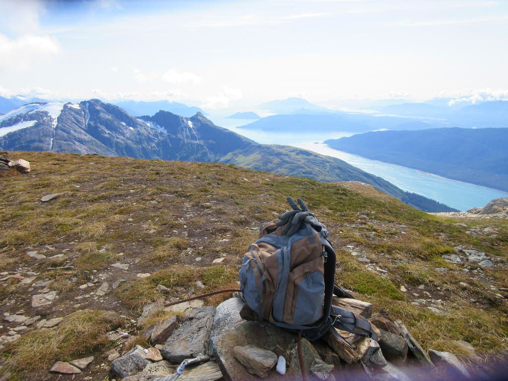 view of Gastineau channel from summit