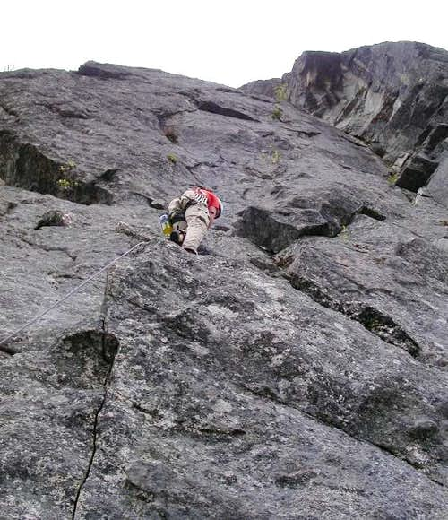 Me leading up the 2nd pitch...
