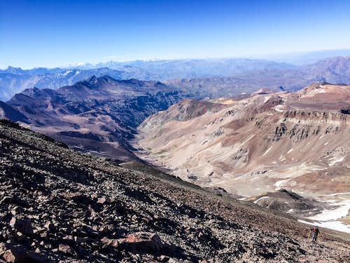 Route to Cerro El Plomo
