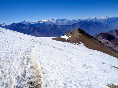 Iver Glacier, Cerro El Plomo