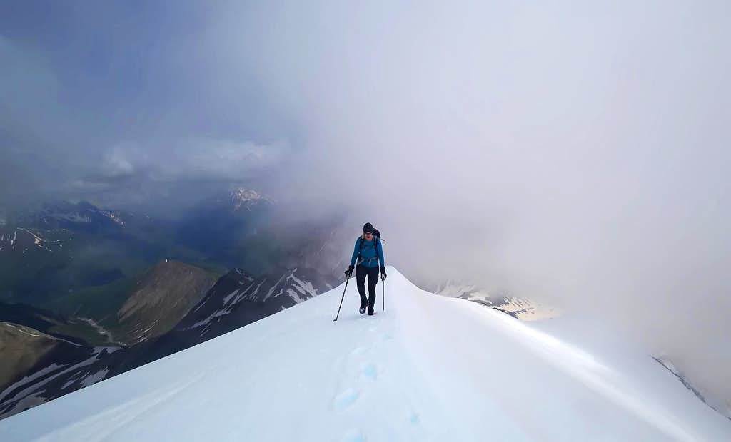 Approaching the Summit of Mount Khalatsa