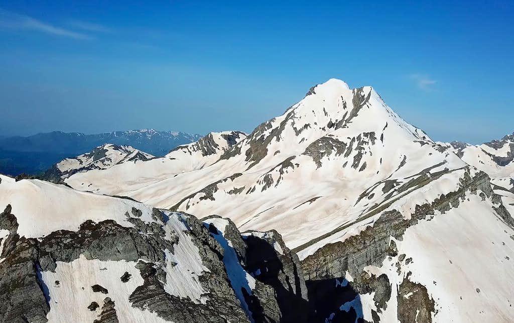 Summit views from the top of Mount Khalatsa