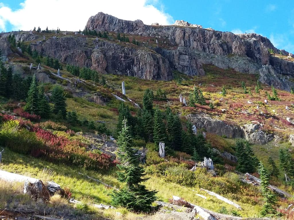 Looking back at Coldwater Peak