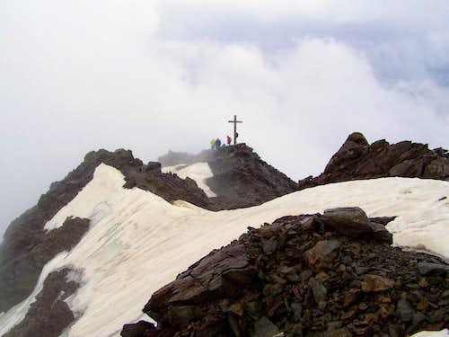 The summit cross of Monte Vioz