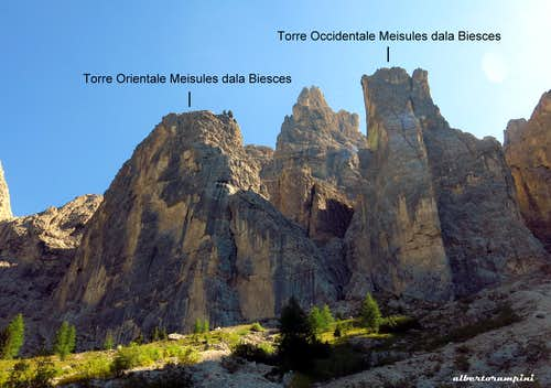 Torri delle Meisules dala Biesces annotated pano