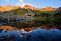 Sunrise in the Elk Mountains, near Precarious Peak